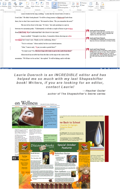 Editing and Newsletter examples