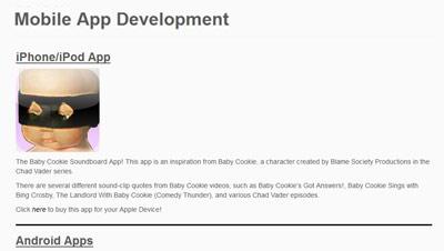 Mobile App Development page screenshot